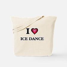 I Love Ice Dance Tote Bag