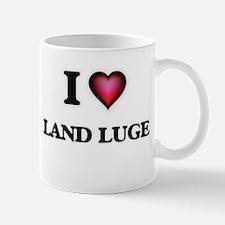 I Love Land Luge Mugs