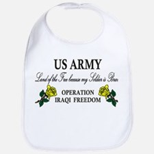 US Army OIF My soldier is brave Bib