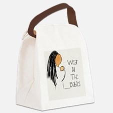 Funny Babywearing Canvas Lunch Bag