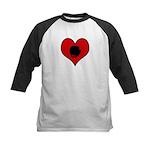 I heart Boxing  Kids Baseball Jersey