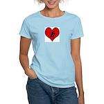 I heart Ballroom Dancing Women's Light T-Shirt