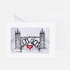 London with love Greeting Cards