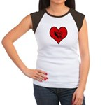I heart BMX Women's Cap Sleeve T-Shirt