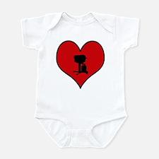 I heart BBQ Infant Bodysuit