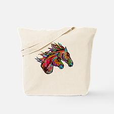 Unique American paint horse Tote Bag