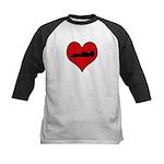 I heart Auto Racing Kids Baseball Jersey