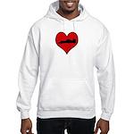 I heart Auto Racing Hooded Sweatshirt