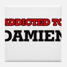 Addicted to Damien Tile Coaster