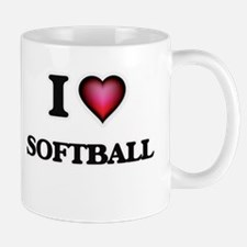 I Love Softball Mugs