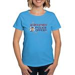 Undercover Cop Women's Aqua T-Shirt