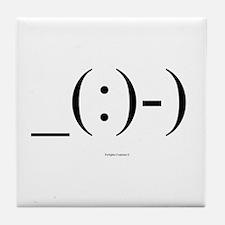 Suba Diver Emoticon Tile Coaster