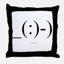 Suba Diver Emoticon Throw Pillow