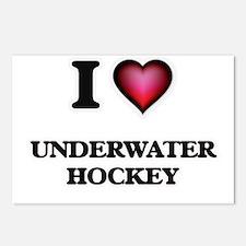 I Love Underwater Hockey Postcards (Package of 8)