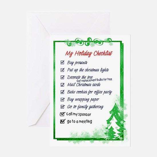 12 Step Holiday Checklist Greeting Card