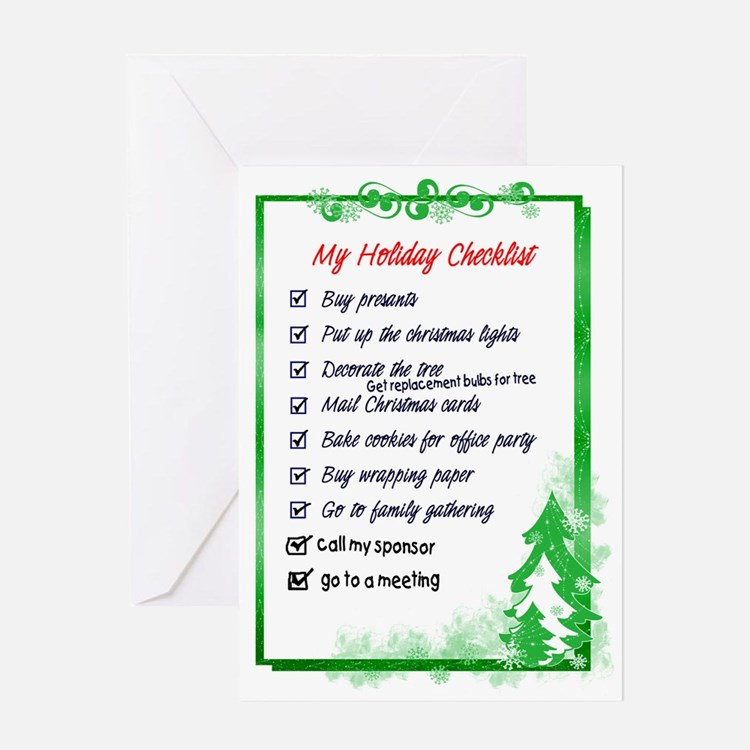 12 Step Holiday Checklist Greeting Card
