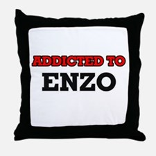 Addicted to Enzo Throw Pillow