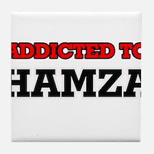 Addicted to Hamza Tile Coaster