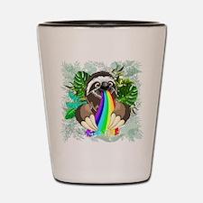 Sloth Spitting Rainbow Shot Glass