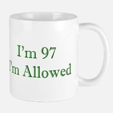97 I'm Allowed 3 Green Mugs