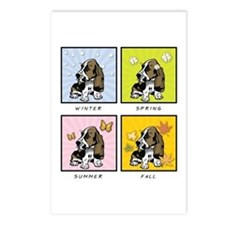 4 Seasons Basset Postcards (Package of 8)