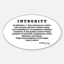 Definition of Integrity Oval Decal