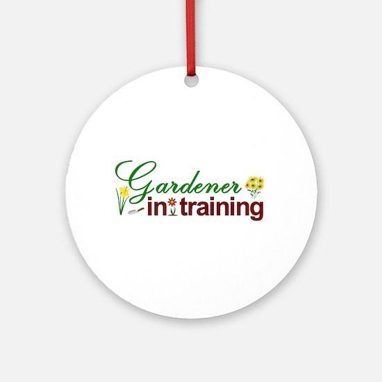 Gardener in Training Ornament (Round)