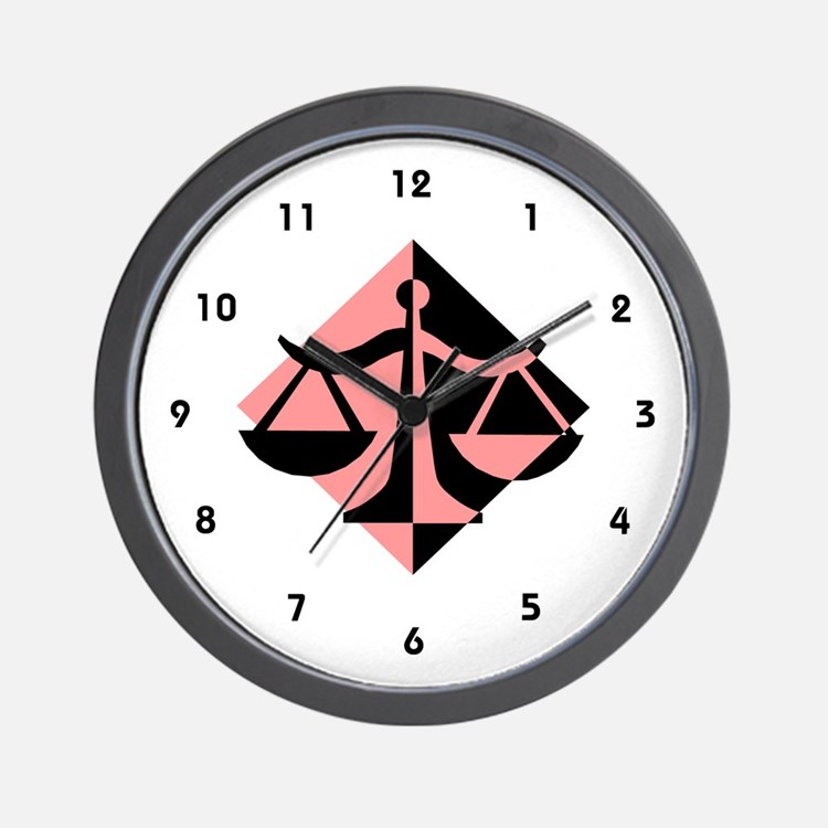 Lawyer Wall Clock