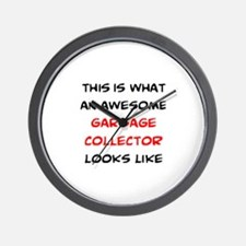awesome garbage collector Wall Clock