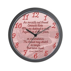 Red Thread Great Wall Clock