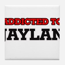 Addicted to Jaylan Tile Coaster