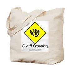 C. diff Crossing Sign 01 Tote Bag