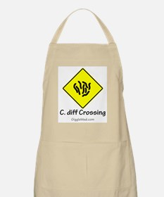 C. diff Crossing Sign 01 BBQ Apron