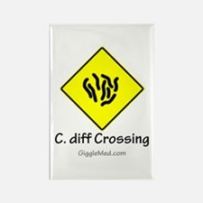 C. diff Crossing Sign 01 Rectangle Magnet
