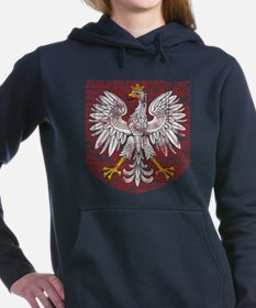 Cute Poland Women's Hooded Sweatshirt