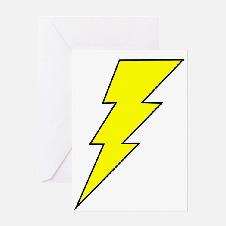 The Lightning Bolt 8 Shop Greeting Card