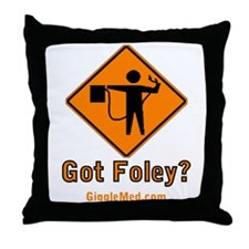 Foley Flagger Sign Throw Pillow