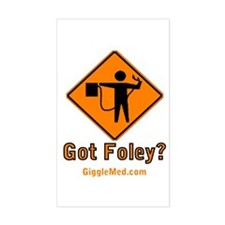Foley Flagger Sign Rectangle Decal