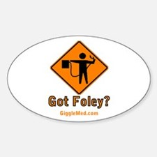 Foley Flagger Sign Oval Decal
