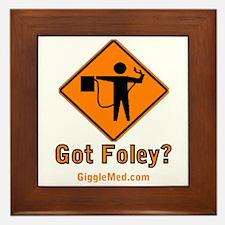 Foley Flagger Sign Framed Tile