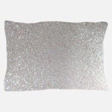 metalic pearl silver glitter Pillow Case