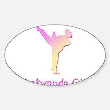 Taekwondo Girl 2 Oval Decal