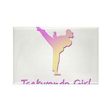 Taekwondo Girl 2 Rectangle Magnet