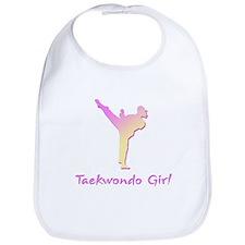 Taekwondo Girl 2 Bib