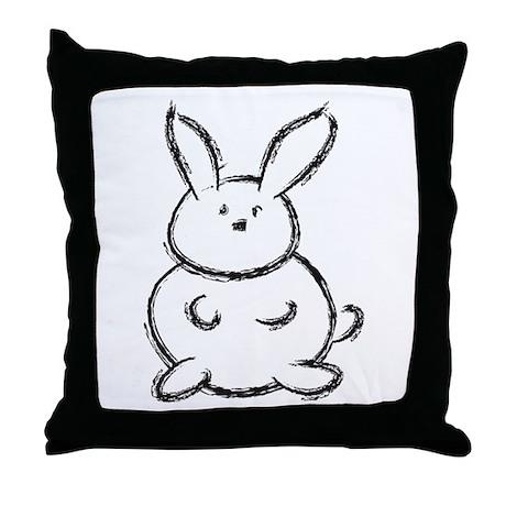 Bunny!! Throw Pillow