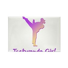 Taekwondo Girl 1 Rectangle Magnet