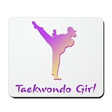 Taekwondo Girl 1 Mousepad