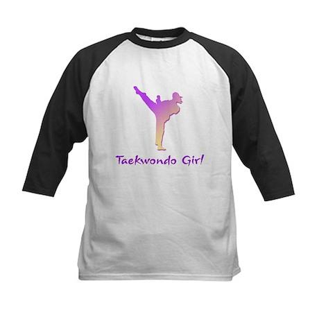 Taekwondo Girl 1 Kids Baseball Jersey