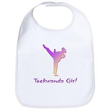 Taekwondo Girl 1 Bib