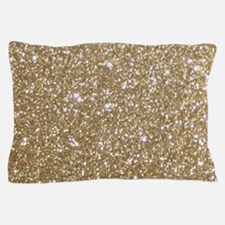 Girly Glam Gold Glitters Pillow Case